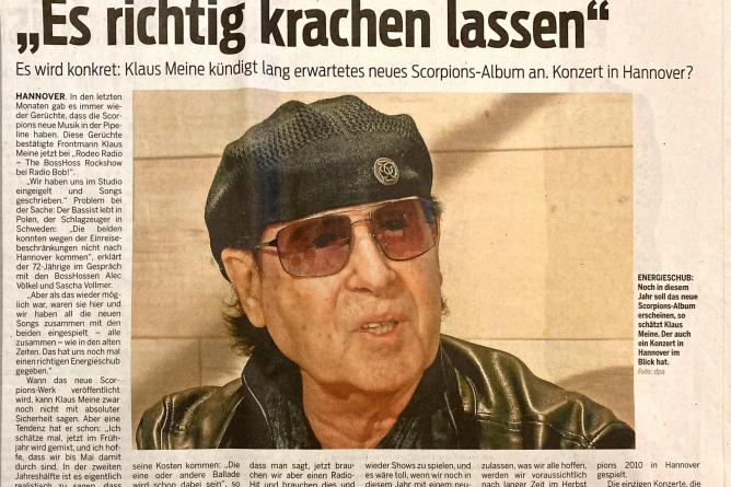 Scorpions Interview Neue Presse